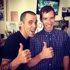 Me and the Hilarious Steve-O From the Jackass Movies (BenRogersWPG) Tags: from celebrity me tattoo hilarious funny comedy winnipeg famous smiles samsung save tattoos note galaxy movies thumbsup interview sober android jackass steveo standup rumors filmstar meetandgreet knuckletattoo instagram samsunggalaxynote freepresscafe benrogerswpg meandthehilarioussteveofromthejackassmovies