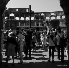 The Cross inside the Coliseum (menteblu61) Tags: midsummer cross croce ferragosto viacrucis cristiani 2013 gladiatori menteblu61