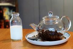 Tea Time (Likkle Oy) Tags: milk cafe tea retro jug teapot stives tealeaves
