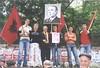 Tiranë, Tirana. Hysni MILLOSHI e komunistë të rinj në një protestë për lirinë e mediave. Communist Albanian activists, 2011? Portraits of Enver HOXHA and Qemal STAFA. (Only Tradition) Tags: al albania albanien shqiperi shqiperia albanija albanie shqipëri ppsh shqipëria arnavutluk pksh албанија rpsh αλβανία rpssh албания albānija албанія
