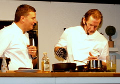Chefs Paul Rankin and Peter Sidwell (Tony Worrall) Tags: show uk england food cooking make demo north cook master event chef cumbria making lakeland meet cookery foodshow cockermouth chefy chefdemo cookerydemo tastecumbria cockermouthfoodfestival 2013tonyworrall
