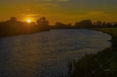 Sunset (ubl57) Tags: germany deutschland abend sonnenuntergang wolken ems allemagne emsland lingen niedersachsen geeste blinkagain