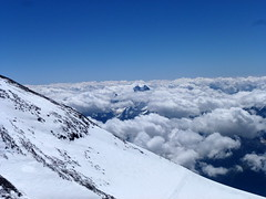 The view from Elbruz West Summit 5642m
