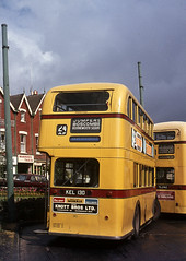 Bournemouth PD2/3 No.130 (rear) at the Triangle. Jun'69. (David Christie 14) Tags: bus triangle bournemouth pd23