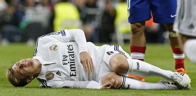 El centrocampista alemán del Real Madrid Toni Kroos durante el partido de vuelta