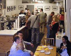 DSCF1417_ep (Eric.Parker) Tags: show bridge party tree coffee japan photography gallery exhibition pinhole reception photograph opening contact fukushima manic 2015 gsv ericparker exclusionzone googlestreetview avokoplimae may62015