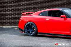 """RAYS TE37 Ultra Mag Blue - Nissan GTR R35 • <a style=""""font-size:0.8em;"""" href=""""http://www.flickr.com/photos/64399356@N08/17836834286/"""" target=""""_blank"""">View on Flickr</a>"""
