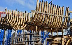 Shipyards 3 (orientalizing) Tags: desktop harbor morocco hull shipyard essaouira featured atlanticcoast planking portofessaouira traditionalwoodenships
