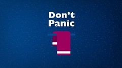Towel Day - Dont Panic - Douglas Adams - The Hitchhikers Guide to the Galaxy (Alan O'Rourke) Tags: towel thehitchhikersguidetothegalaxy douglasadams dontpanic towelday