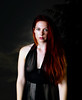 Larissa (Photographer Primus) Tags: redhead beauty serious black negligee