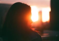... (Mr.Sai) Tags: minoltax700 helios4458mmf2m39silver fuji100 analog film     taiwan taipei girl portrait sunset