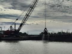 Dredging in Huron (prodefenserm) Tags: boat great steamshovel barge erie lake ohio huron dredge dredging