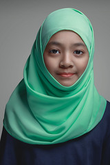 Muslim young girl, (Patrick Foto ;)) Tags: arab arabian arabic asian background beautiful beauty closeup culture eastern education ethnic expression face fashion female girl grey happy hijab indonesian islam islamic isolated lady lifestyle malay malaysian muslim people person portrait pretty religion religious scarf smile thailand traditional veil white woman young