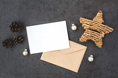 Card and envelope with star (Olga_Z1982) Tags: envelope holiday mockup decoration christmas card document vibrant white ornament blank letter celebration event with color mail paper invitation office concept greeting cone ball star bright golden