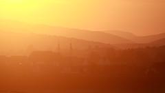 The perfect moment ! (Bruno MATHIOT) Tags: orange soleil montagne sunset lumire light alsace silhouette france french fin de journe colors couleurs 55250 canon dgrad village nature outdoor