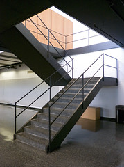 IIT Late Summer 2016 (faasdant) Tags: crown hall 195056 mies van der rohe architect modern modernism minimalism iit chicago illinois institute technology school college stair stairs