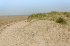 Solitude 2 (stevefge) Tags: dunkirk france landscape coast beach sand sea estuary people women oyeplage laflaqueauxoies reflectyourworld