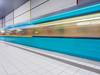 Whoosh (katrin glaesmann) Tags: ubahnhof metro tube station moving train workshop frankfurt festhallemesse u4 colours tiles fliesen