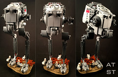 AT-ST (goatman461) Tags: lego star wars atst jedha empire stormtroopers scout troopers