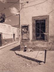 StreetCornerMexico84SanMiguelDeAllende (Zzzzt!Zzzzt!) Tags: mexico sanmigueldeallende street streetphotography 1984