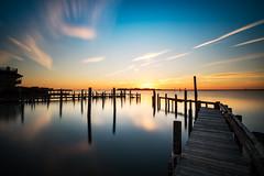 Decorus (DJawZ) Tags: fall autumn water bay docks blue ocean atlantic longexposure longbeachisland lbi pilings sky clouds ndfilter landscape sunset evening light sun sunlight nj new jersey beach haven