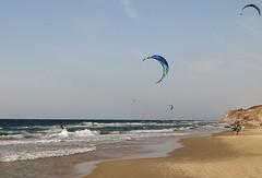 Vibrant Herzliya (chanaeli) Tags: beach kitesurfing sea israel herzliya