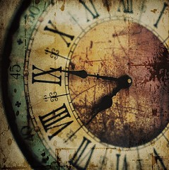 clock (Jackal1) Tags: grunge clock time art arty rustic creative numbers romannumerals
