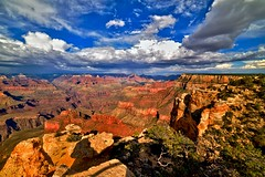 Colors of Maricopa (imaginamateur) Tags: grandcanyon usa soleil averse pluie rain bleu rouge jaune hdr grandeplagedynamique paysagederve canyon