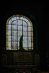 Sainte Jeanne d'Arc (Tigra K) Tags: paris ledefrance france fr 2016 architdetail church interior lattice ornament sculpture statue vitrage window art