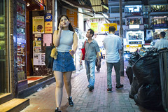 Another Friday Night () Tags: leica leicam240p leicam leicamp konica konicahexanonuc35f2 35mm f20 f2 hexanon hongkong shatin street streetphotography people candid city stranger mp m240p m240 publicspace walking offfinder road travelling trip travel    asia girls girl woman  wideopen causewaybay