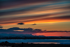 sky <water> fall (Bill Bowman) Tags: mvatn sunset frozenlake iceland sland
