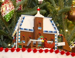 1F6FBFCC (Susan Schwerin) Tags: white house christmas decorations press preview washington usa 29 nov 2016 detail one 56 lego gingerbread houses for each state territory dining room notpersonality 50001013 7526643k