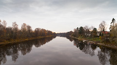Autumn River (samiKoo) Tags: river october fall autumn water reflection reflections nature naturallight cloudy clouds tree photography photo photograph canon 6d 24105mml