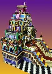 LEGO Day of the Dead (Brickbaron) Tags: mexican skulls mayan cemetery brickcon 2016 patterns bones skeleton heatherbraaten landoftheremembered sugarskull bookoflife seallug diademuertos
