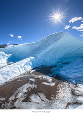 it's time for ice! (Nancy Carels) Tags: alaska glacier root ice sun autumn fall blue wrangell stelias nationalpark mccarthy august