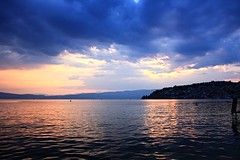 Lake Ohrid during sunset (cannoner) Tags: ohrid lake sunset 2015 canon xsi 450d macedonia landscape