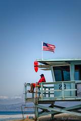 Socorrista/Baywatch (hdezrayco) Tags: california usa eeuu la los angeles baywatch lifeguard socorrista vigilante playa beach promenade pier sun sand colourful colorido work