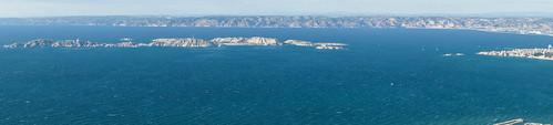 Panoramique sur Frioul et Estaque