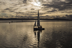 Serene Sailing (David Chennell - DavidC.Photography) Tags: dinghy twilight dusk sunset wirral merseyside westkirby reflection silhouette carlesberg
