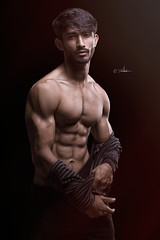 Saad LB-#17 (Kazi_Kamrul_Abid) Tags: men man male model body bodybuilder muscular muscle fitness workout portrait studio lowlight kkabidphotography