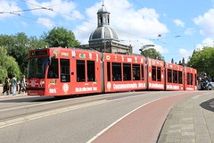Lijn 9 -> Centraal Station (AMSfreak17) Tags: amsfreak17 danny de soet canon 70d gvb gemeentelijk vervoerbedrijf amsterdam amsterdamse tram world of trams ov openbaar vervoer public traffic transport transportation nederland the netherlands dutch railway holland strassenbahn stadsvervoer light rail service 13g 14g siemens combino commercialtram plantage middenlaan 2099 reclame advertising dirk van der broek