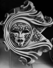 Mask I (Makro Paparazzi) Tags: mask maska venecija venezie venice venezia veneto europe evropa eurotrip travelphotography blackwhite blackwhitephotography crnobelafotografija italy italija italia nikon nikond7000 nikon18105mmf3556vr