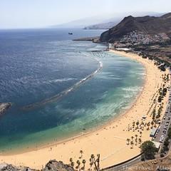 Playa de las Teresitas, Tenerife (alessandrabee1) Tags: volcanicrocks volcanic italianeography iphoneography atlanticocean nature landscape canarie deep beach blue oceanview ocean travelphotography tenerife canaryislands traveling travel