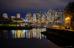 Nightlights Off Ron Basford Park (Clayton Perry Photoworks) Tags: vancouver bc canada fall autumn night lights falsecreek explorebc explorecanada outdoor reflections skyline building architecture seawall