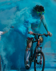Rider in the Storm (JamesJ.Harris) Tags: colour clash garden house hospice stevenage charity run color bike event fun