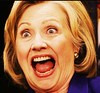 "Hillary - ""After the Third World Raspberry"" / ""Hearts are Trump"" (ramalama_22) Tags: hillary rodham clinton 2016 presidential heart trump election third world raspberry open mouth teeth wide eyes shocked surprised scream terror fright astonished red tongue loser defeated finished terminated dismissed fired cards game bridge symbolism donald king aces sleeve card"
