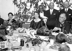 #President Franklin D. Roosevelt carves the turkey during the annual Thanksgiving dinner for polio patients at Warm Springs, Georgia, with first lady Eleanor Roosevelt smiling beside him, on December 1, 1933 [OS][1200x800] #history #retro #vintage #dh #Hi (Histolines) Tags: histolines history timeline retro vinatage president franklin d roosevelt carves turkey during annual thanksgiving dinner for polio patients warm springs georgia with first lady eleanor smiling beside him december 1 1933 os1200x800 vintage dh historyporn httpifttt2fihypv