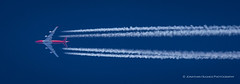 Cruising Global SuperTanker (Nimbus20) Tags: boeing 747 super tanker fire bomber water freighter jumbo cruise vapourtrails bluesky high altitude sky fast powerful red jet airliner plane aircraft mighty