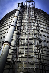 What a Climb (Photographybyjw) Tags: what climb ladder top this old grain silo found north carolina photographybyjw clime steel metal clouds blue sky rural country outside sun shine reflections