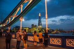 City Nights (Tony Shertila) Tags: 20150527203826 england gbr geo:lat=5150470235 geo:lon=007594943 geotagged riversideward southwark unitedkingdom europe britan london city capital towerbridge southbank shard cityscape weather night clouds cloudy outdoor bridge tourist people structure gothic architecture